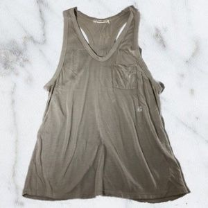 T by Alexander Wang Taupe Tan Tank Top Blouse
